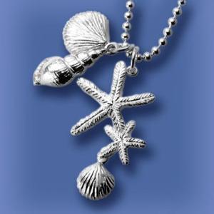 匙の内 海星(ヒトデ)と貝のネックレス|ginnosaji
