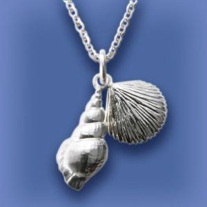 匙の内 巻貝と平貝のネックレス|ginnosaji