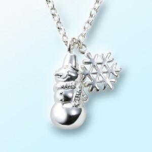 雪だるまと結晶のネックレス|ginnosaji