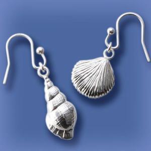 匙の内 巻貝と平貝のピアス|ginnosaji