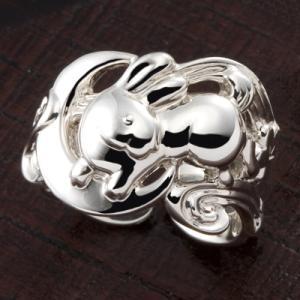 匙の内 月とうさぎのリング|ginnosaji