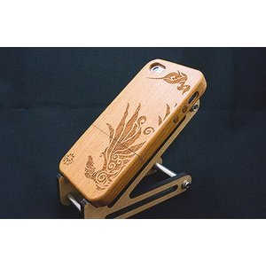 iPhone5/5s/SE木製ケース - フェニックス - | メンズ | トライバル | 銀の環|ginnowa