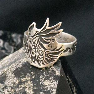 シルバーリング - フェニックス - | メンズ | シルバー | トライバル | silver ring | 銀の環|ginnowa