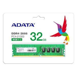 ADATA DDR4-2666MHz デスクトップPC用 メモリモジュール Premierシリーズ 16GB×2枚キット AD4U2666316G19の画像