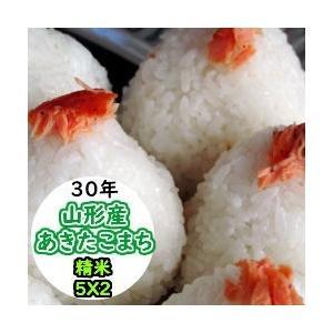 米 10kg 精米 山形産あきたこまち 送料無料 平成29年産|ginshari