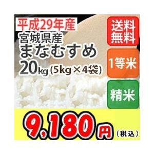 米 20kg 宮城産まなむすめ 精米 送料無料 平成29年産|ginshari