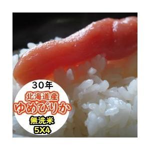 米 20kg 北海道産ゆめぴりか 無洗米 乾式無洗米 送料無料 平成29年産|ginshari