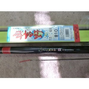 国産本流渓流竿硬調 奥吉野810 新品、送料無料。  硬調の本流小継ぎ渓流竿です。日本製です。全長8...