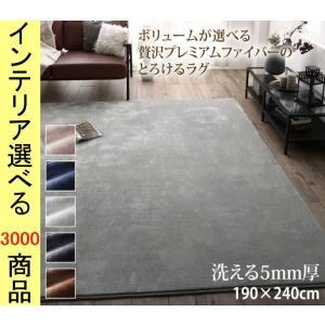 ラグマット マイクロファイバー 190×240×0.5cm ポリエステル 上質 静電気防止加工 四角...