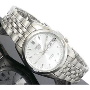 腕時計 メンズ セイコー5(SEIKO5) オートマチック 曜日・日付表示 ステンレスベルト シルバー/シルバー色 WS88NK355K1 / 当店再検品済=|ginza-luxury
