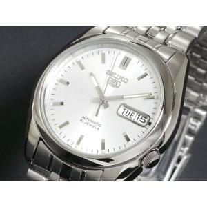 腕時計 メンズ セイコー5(SEIKO5) オートマチック 曜日・日付表示 ステンレスベルト シルバー/シルバー色 WS88NK355K1 / 当店再検品済=|ginza-luxury|03