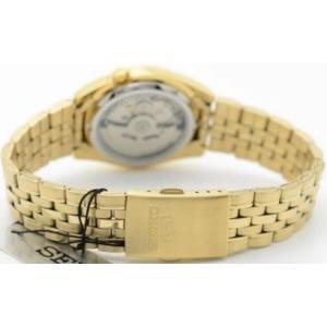 腕時計 メンズ セイコー5(SEIKO5) オートマチック 曜日・日付表示 ステンレスベルト ゴールド/ゴールド色 WS88NK366K1 / 当店再検品済=|ginza-luxury|02
