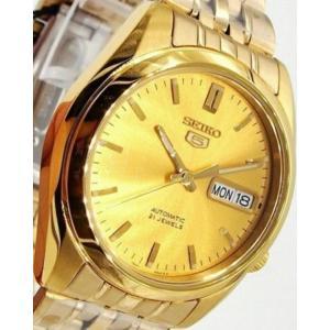 腕時計 メンズ セイコー5(SEIKO5) オートマチック 曜日・日付表示 ステンレスベルト ゴールド/ゴールド色 WS88NK366K1 / 当店再検品済=|ginza-luxury|03