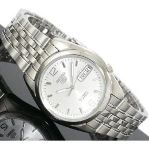腕時計 メンズ セイコー5(SEIKO5) オートマチック 曜日・日付表示 ステンレスベルト シルバー/シルバー色 WS88NK385K1 / 当店再検品済=|ginza-luxury
