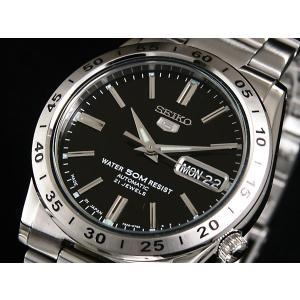 腕時計 メンズ セイコー5(SEIKO5) オートマチック 曜日・日付表示 日本製 ステンレスベルト シルバー/ブラック色 WS88NKE01J1 / 当店再検品済|ginza-luxury|03