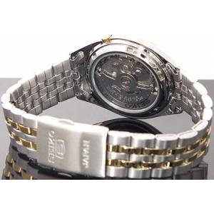腕時計 メンズ セイコー5(SEIKO5) オートマチック 曜日・日付表示 日本製 ステンレスベルト シルバー/ホワイト×ゴールド色 WS88NKL24J1 / 当店再検品済|ginza-luxury|02