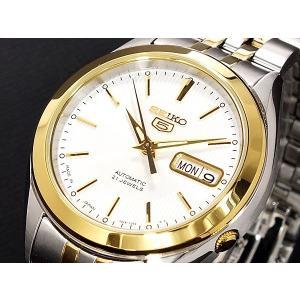 腕時計 メンズ セイコー5(SEIKO5) オートマチック 曜日・日付表示 日本製 ステンレスベルト シルバー/ホワイト×ゴールド色 WS88NKL24J1 / 当店再検品済|ginza-luxury|03