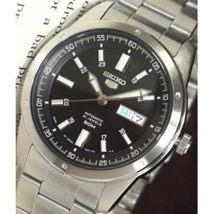 腕時計 メンズ セイコー5(SEIKO5) オートマチック 曜日・日付表示 日本製 ステンレスベルト シルバー/ブラック色 WS88NKN13J1 / 当店再検品済 ginza-luxury 03