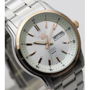 腕時計 メンズ セイコー5(SEIKO5) オートマチック 曜日・日付表示 日本製 ステンレスベルト シルバー/シルバー×ローズゴールド色 WS88NKP12J1/ 当店再検品済|ginza-luxury|03