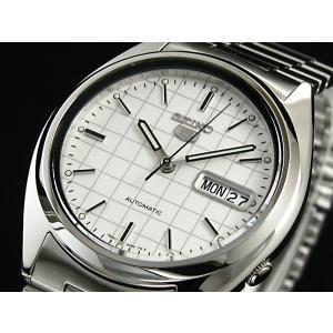 腕時計 メンズ セイコー5(SEIKO5) オートマチック 曜日・日付表示 チェック柄 ステンレスベルト シルバー/ホワイト色 WS88NXF05K1 / 当店再検品済|ginza-luxury|03