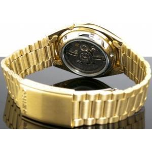 腕時計 メンズ セイコー5(SEIKO5) オートマチック 曜日・日付表示 日本製 ステンレスベルト ゴールド/ゴールド色 WS88NXS80J1 / 当店再検品済|ginza-luxury|02