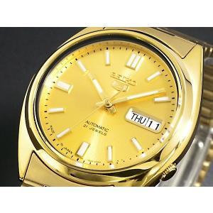 腕時計 メンズ セイコー5(SEIKO5) オートマチック 曜日・日付表示 日本製 ステンレスベルト ゴールド/ゴールド色 WS88NXS80J1 / 当店再検品済|ginza-luxury|03