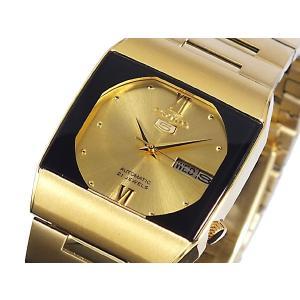 腕時計 メンズ セイコー5ドレス(SEIKO5 DRESS) オートマチック 曜日・日付表示 日本製 四角形 ステンレスベルト ゴールド/ゴールド色 WS88NY012J1 / 再検品済|ginza-luxury|03