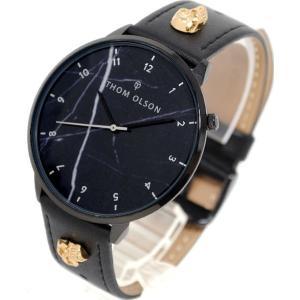 腕時計 メンズ トムオルソン THOM OLSON フリースピリット Free Spirit 大理石柄 クォーツ 革ベルト ブラック ブラック ブラック色 WTCBTO015の商品画像|ナビ