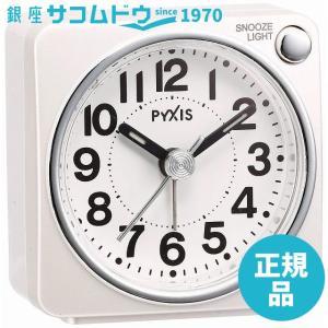 SEIKO CLOCK(セイコークロック) PYXISライト付き目覚まし時計(白) NR437w|ginza-sacomdo