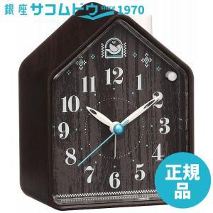 SEIKO CLOCK セイコー クロック 目覚まし時計 ネイチャーサウンド アナログ 切替式 アラーム PYXIS ピクシス 濃茶 木目 模様 NR444B[4517228037610-NR444B]|ginza-sacomdo
