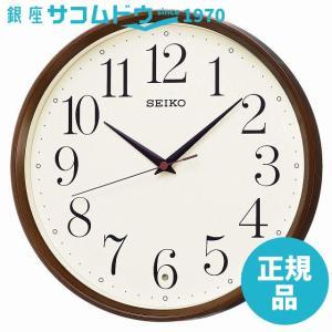 SEIKO CLOCK (セイコークロック) 掛け時計 電波 アナログ 濃茶木目模様 KX222B|ginza-sacomdo