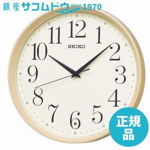 SEIKO CLOCK (セイコークロック) 掛け時計 電波 アナログ 薄茶木目模様 KX222A|ginza-sacomdo