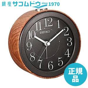 SEIKO CLOCK セイコー クロック 目覚まし時計 アナログ 濃茶 木目 KR504A SEIKO [4517228039461-KR504A]|ginza-sacomdo
