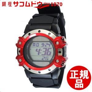 [クレファー]CREPHA ソーラー腕時計 デジタル表示 5気圧防水 レッド FDM7662-RD メンズ|ginza-sacomdo