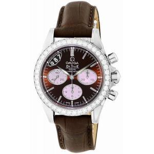 [オメガ]OMEGA 腕時計 デ・ビル ブラウン文字盤 コーアクシャル自動巻 クロノグラフ 422.18.35.50.13.001 レディース 【並行輸入品】|ginza-sacomdo