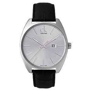 [3年保証] Calvin Klein カルバンクライン 腕時計 ウォッチ K2F211.20 Exchange エクスチェンジ レザー ブラック/シルバー メンズ クォーツ|ginza-sacomdo