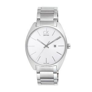 [3年保証] Calvin Klein カルバンクライン 腕時計 ウォッチ K2F211.26 Exchange エクスチェンジ レザー ブラック/シルバー メンズ ウォッチ クォーツ|ginza-sacomdo