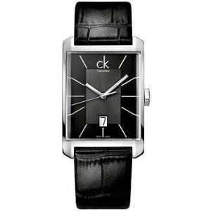 [3年保証] Calvin Klein カルバンクライン 腕時計 ウォッチ K2M211.07 K2M21107 Window ウィンドウ レザー ブラック/シルバー メンズ ウォッチ クォーツ|ginza-sacomdo