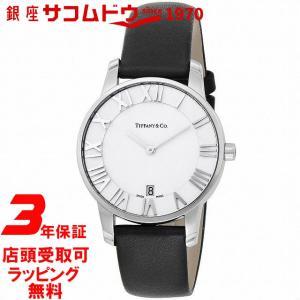 [3年保証][ティファニー]Tiffany&Co. 腕時計 Atlas Dome シルバー文字盤 バッファロー革ベルト Z1800.11.10A21A52A メンズ [並行輸入品] ginza-sacomdo