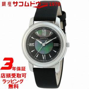 [3年保証][ティファニー]Tiffany&Co. 腕時計 Mark ブラック/ブラックパール文字盤  サテンベルト Z0046.17.10A90A40A レディース [並行輸入品] ginza-sacomdo