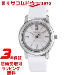 [3年保証][ティファニー]Tiffany&Co. 腕時計 Mark シルバー/ホワイトパール文字盤  サテンベルト Z0046.17.10A91A40A レディース [並行輸入品] ginza-sacomdo
