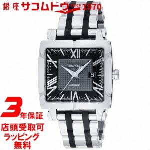 [3年保証][ティファニー]Tiffany&Co. 腕時計 AtlasGentSquare ブラック文字盤 自動巻 Z1100.70.12A10A00A メンズ [並行輸入品] ginza-sacomdo