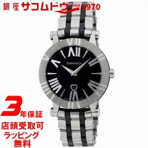 [3年保証][ティファニー]Tiffany&Co. 腕時計 Atlas ブラック文字盤 Z1301.11.11A10A00A レディース [並行輸入品] ginza-sacomdo