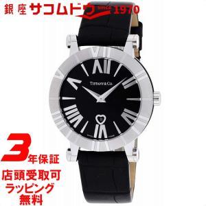 [3年保証][ティファニー]Tiffany&Co. 腕時計 Atlas ブラック文字盤 アリゲーター革ベルト Z1301.11.11A10A71A レディース [並行輸入品] ginza-sacomdo