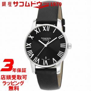 [3年保証][ティファニー]Tiffany&Co. 腕時計 Atlas Dome ブラック文字盤 自動巻 Z1800.68.10A10A50A メンズ [並行輸入品] ginza-sacomdo