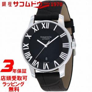 [3年保証][ティファニー]Tiffany&Co. 腕時計 Atlas Dome ブラック文字盤 自動巻 Z1810.68.10A10A50A メンズ [並行輸入品] ginza-sacomdo