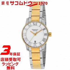[3年保証][ティファニー]Tiffany&Co. 腕時計 Atlas Dome シルバー文字盤 K18YG/SSケース 自動巻 Z1830.68.15A21A00A レディース [並行輸入品]|ginza-sacomdo
