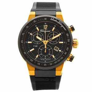 サルヴァトーレフェラガモ 時計 Salvatore Ferragamo F55LCQ75909S113 Fー80 メンズ腕時計 ウォッチ イエローゴールド/ブラック [並行輸入品]|ginza-sacomdo