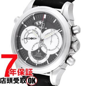 オメガ デビル クロノスコープ ラトラパンテ 43mm 自動巻き 4848.40.31 OMEGA 腕時計 革ベルト|ginza-sacomdo