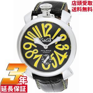 [3年保証]ガガミラノ GaGa Milano 腕時計 ウォッチ マニュアーレ48 手巻き メンズ 腕時計 5010.12S-BLK[逆輸入品]|ginza-sacomdo
